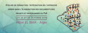 Atelier de formation : L'intégration de la dimension Genre dans les projets du P3A @ Hôtel d'El Biar